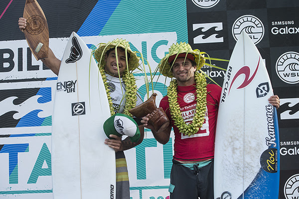 Taumata Puhetini (PYF) and Bruno Santos (BRA) take out the Air Tahiti Nui Billabong Pro Trials to each earn a place in the main event.